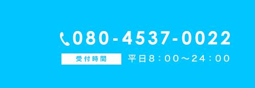 電話番号080-4537-0022
